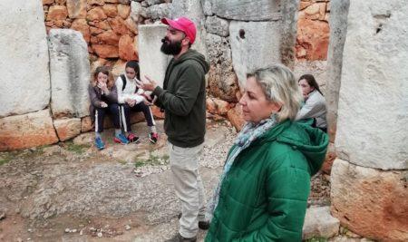 Els alumnes de 1er ESO visiten la Torre d'en Galmés