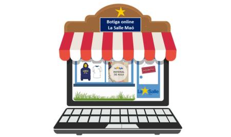 Tienda online La Salle Maó para venta de libros, material escolar y ropa deportiva