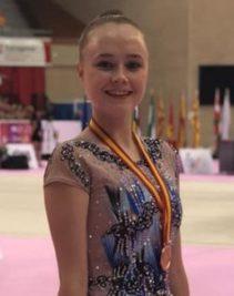 Enhorabuena a nuestra antigua alumna Georgia por su medalla de bronce en gimnasia rítmica