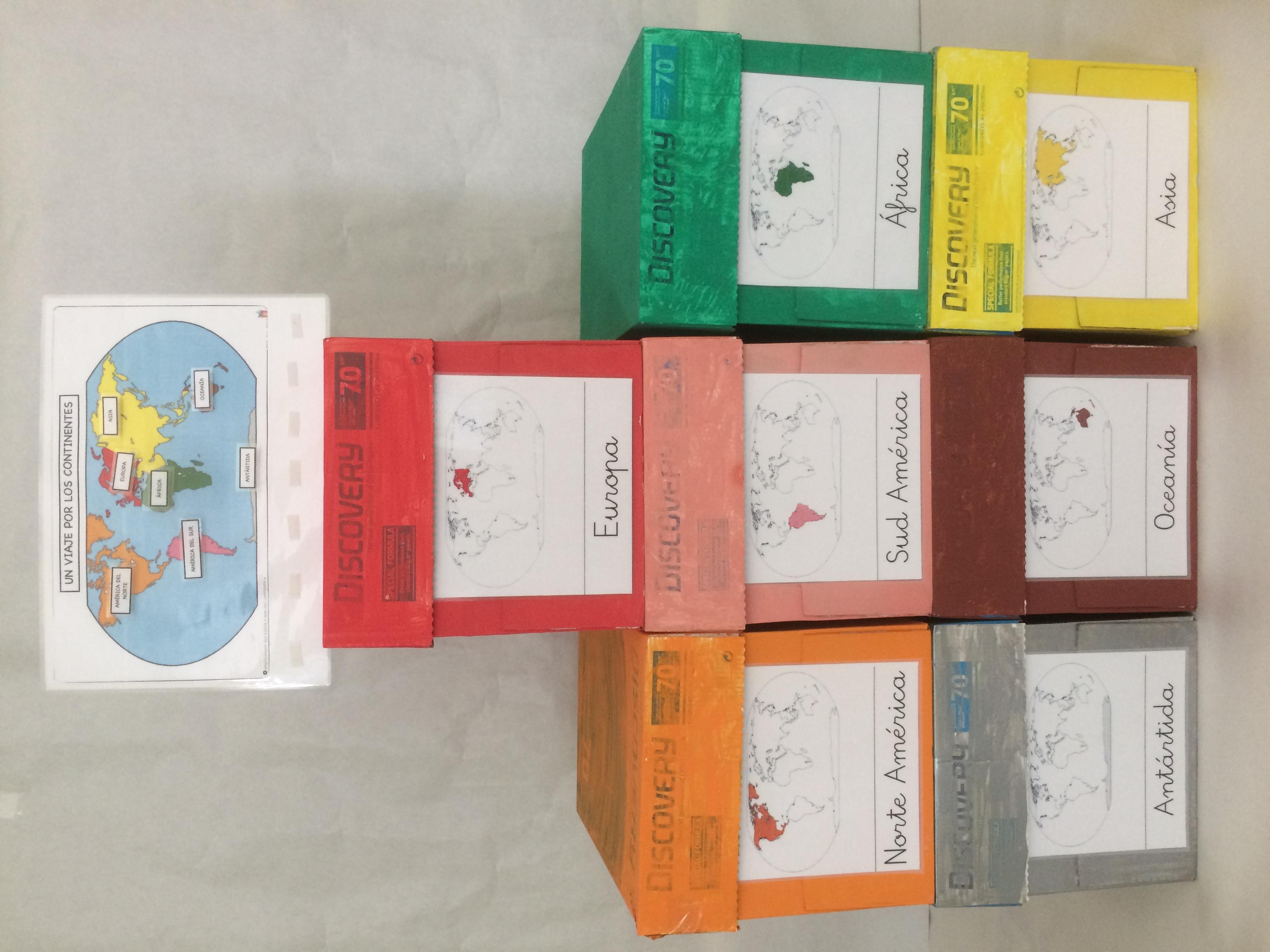 Projecte les caixes dels continents