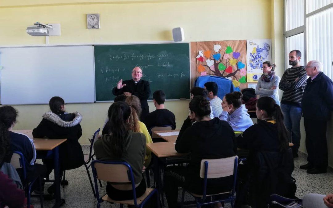 Visita de la seva Excia. Mons. Francesc Conesa, Bisbe de Menorca