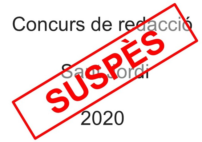 Concurs Sant Jordi suspès