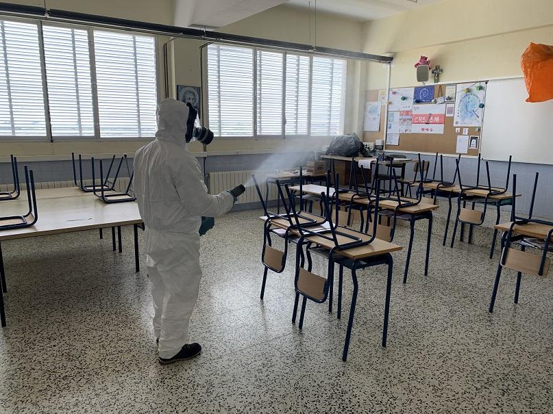 Desinfecció a les instal·lacions de La Salle Maó
