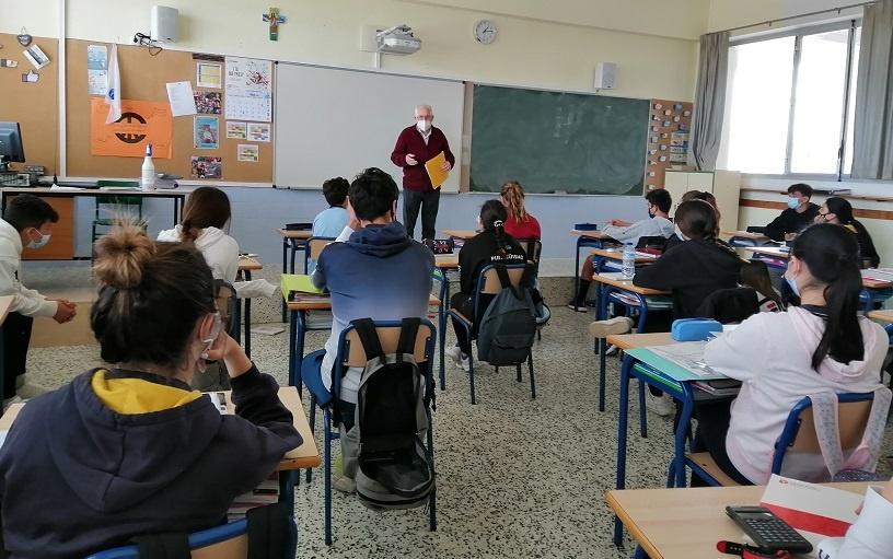El germà Paco participa en la Religió catòlica 3r ESO