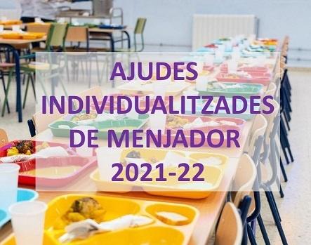 Convocatòria d'ajudes individualitzades de menjador 2021-22