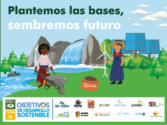 """""""PLANTEMOS LAS BASES, SEMBREMOS FUTURO"""" campaña de sensibilización anual de las ONGD lasalianas."""